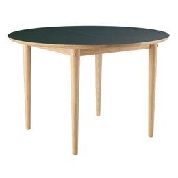 Unit10 spisebord med udtræk - C62 Bjørk - Eg/mørkegrøn