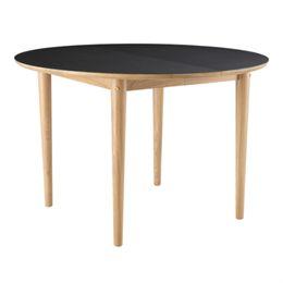 Unit10 spisebord med udtræk - C62 Bjørk - Eg/sort
