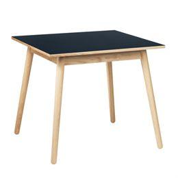 l M. Volther 4 pers. spisebord - C35A - Eg/blå linoleum